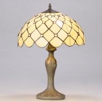 """16"""" Tiffany Style Jewel Table Lamp Light Honey Shade in ..."""