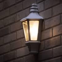 Asd Led Half Lantern Outdoor Wall Light With Pir Sensor ...