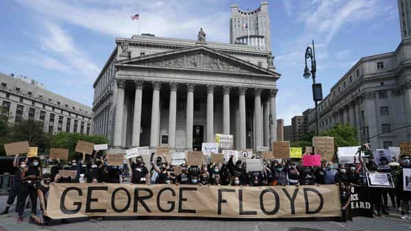 Demonstrations are being held across the US after George Floyd died in police custody on May 25. (AFP)