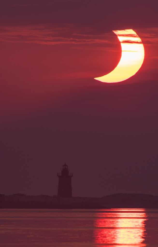 Today, people in parts of the Northern Hemisphere saw a partial or annular solar eclipse.