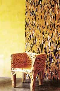 campana brothers favela chair dining pad covers sari for a hammock 8216 bartans 8217 art brazilian supermodel by the campanas maisant ludovic afp