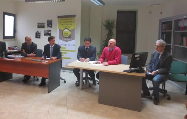 Da sx Ignazio Floris, Eugenio Garribba, Massimo Temussi, Massimo Carpinelli, Gianluigi Sechi INAUGURAZIONE JOB PLACEMENT UNISS
