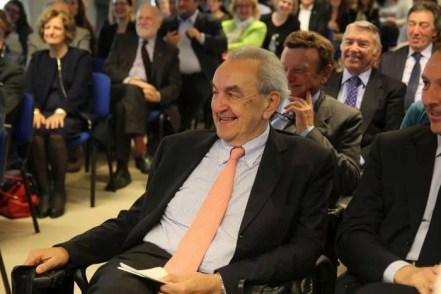 Bruno Pizzul fra il pubblico, durante la laudatio