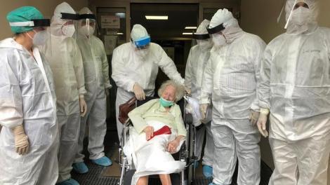 Paziente di cent'anni dimessa da Covid Hospital