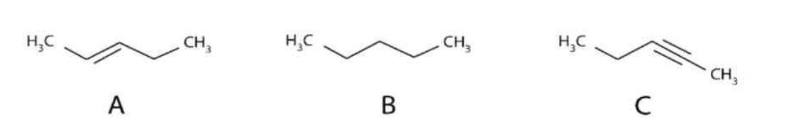 Date le rappresentazioni delle strutture molecolari riportate in figura si può affermare che: