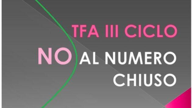 TFA Numero Chiuso