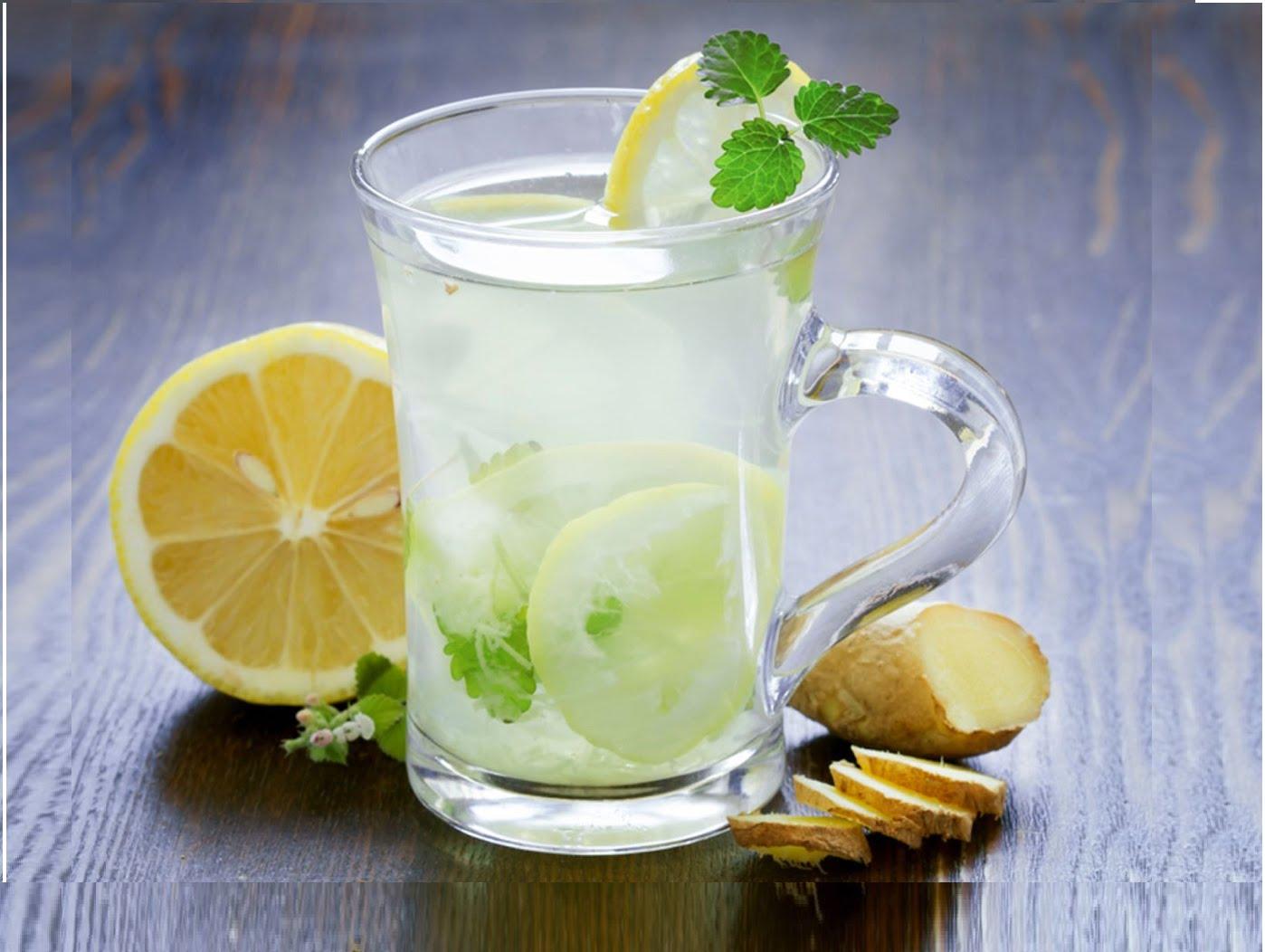 cetriolo allo zenzero e acqua dimagrante al limone