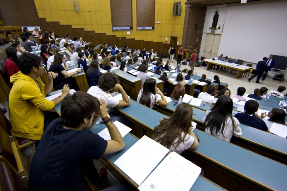 Aula con studenti