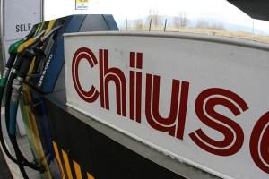 benzinai chiusi