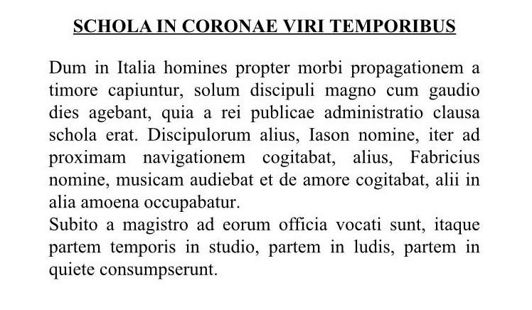 Il Coronavirus Raccontato In Latino La Curiosa Versione Di Un Liceo Catanese Liveunict