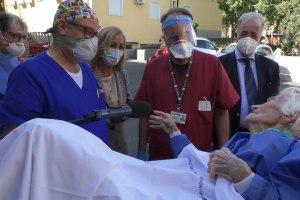 97 enne dimessa dall'ospedale Cannizzaro