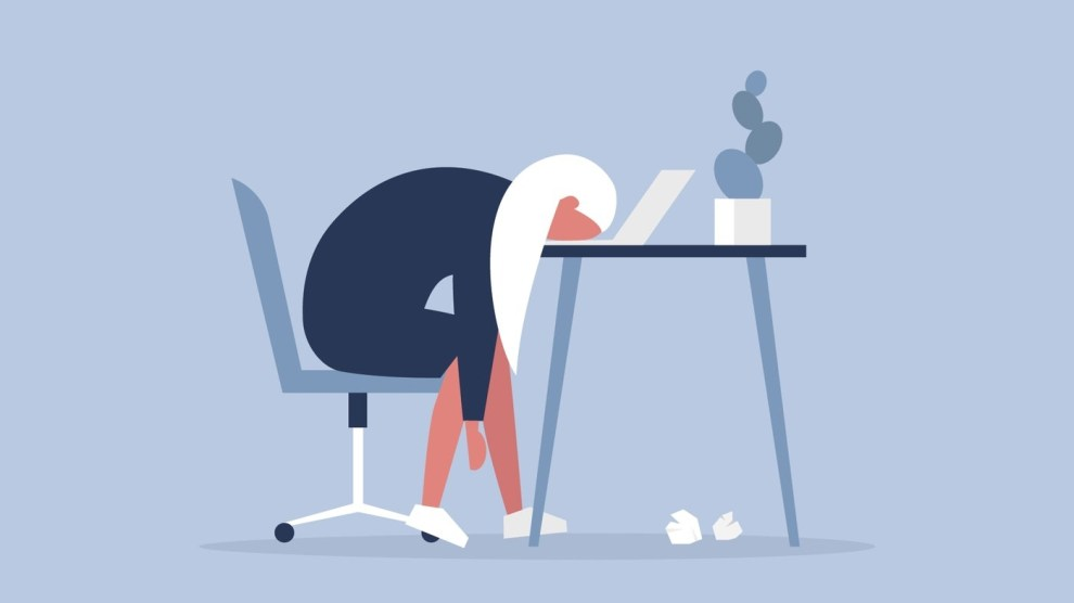 Esaurimento nervoso a causa del troppo lavoro