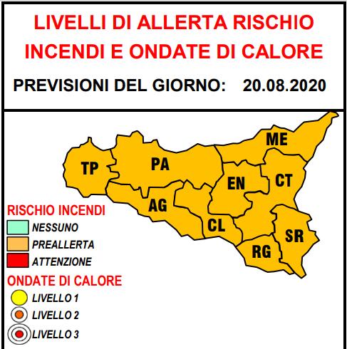 Sicilia, diramata allerta per rischio incendi e ondate di ...