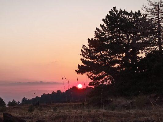 tramonto etna