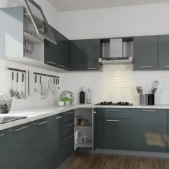 High Gloss Acrylic Kitchen Cabinets Kids Wooden 12 Gorgeous Grey Kitchens For Indian Homes