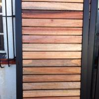 Wood driveway gates and wood and steel garden gates ...