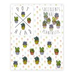 Succulent Pattern Sticker And Decal Sheets Lookhuman