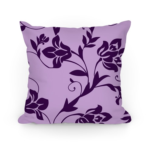 purple floral pattern pillows lookhuman
