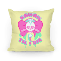 Kawaii Til I Die - Throw Pillow - HUMAN