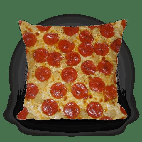 pizza throw pillow lookhuman