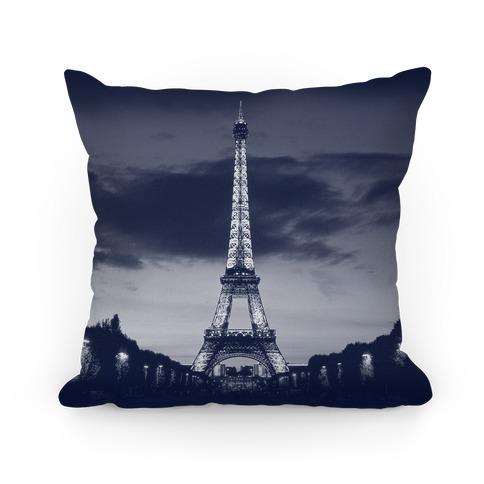 Eiffel Tower Pillow Navy Throw Pillow  LookHUMAN