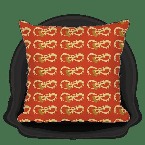 infinity pizza throw pillow