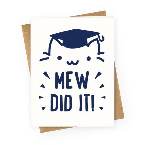 cat graduation cards t
