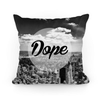 Dope (NYC) Pillow Throw Pillow   LookHUMAN