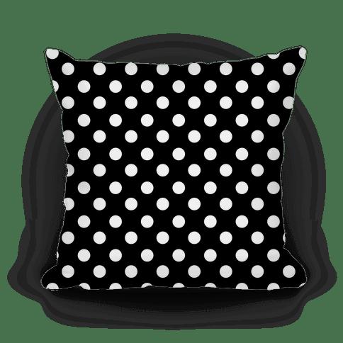 small polka dot pillow black and white pillows lookhuman