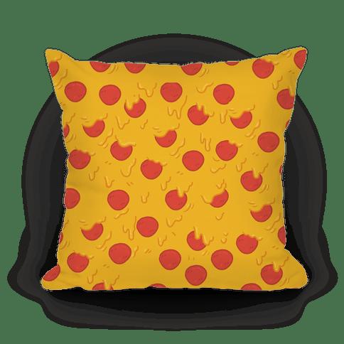cartoon pizza pillow throw