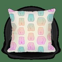 Kawaii Pastel Butt Pattern - Pillows - HUMAN
