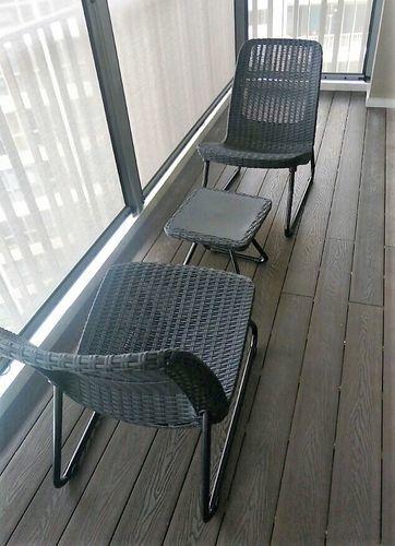 rio patio set dark grey by keter home