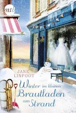 Winter im kleinen Brautladen am Strand von Jane Linfoot