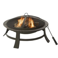 Clay Outdoor Fire Pit.Image Of Wood Burning Fire Pit Table ...