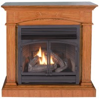 Shop ProCom 32000 BTU Full Size Medium Oak Gas Fireplace ...