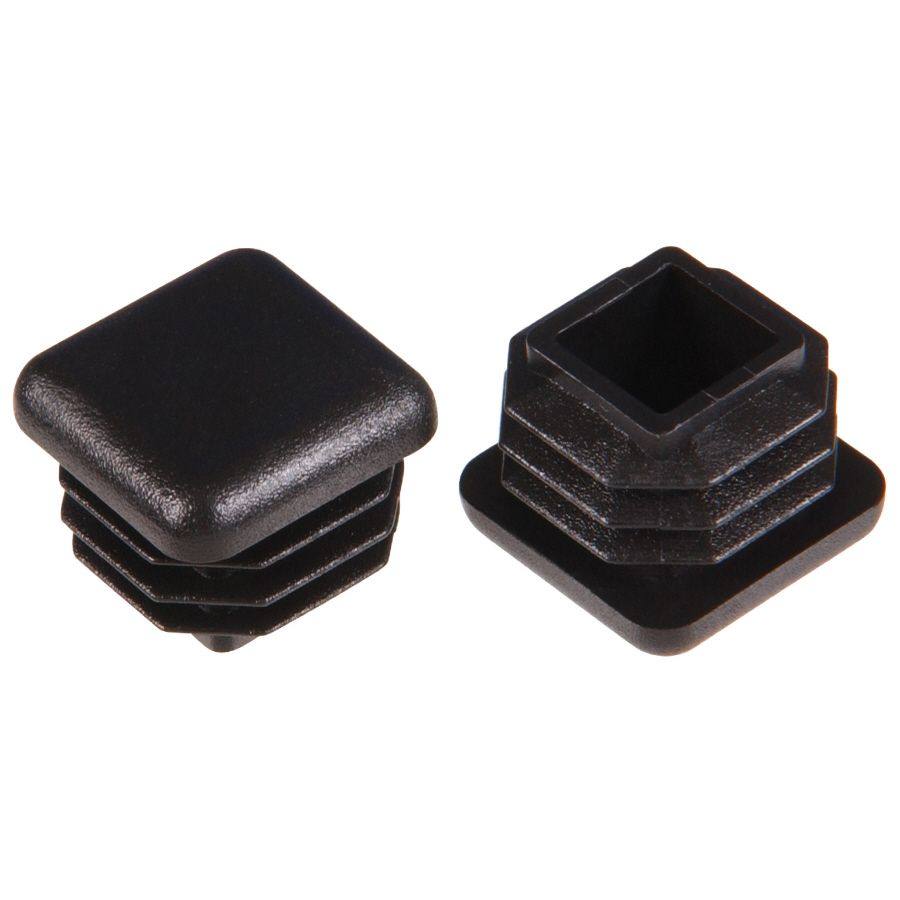 Shop The Hillman Group 2 Pack 7 8 In Black Plastic Inside Furniture Tips At Lowes Com