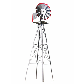 Shop 98-in Gray Steel Decorative Windmill at Lowes.com