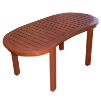 Shop Wood Oval Patio Coffee Table at Lowes.com