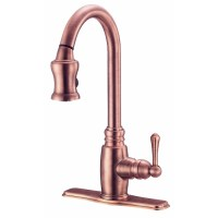 Shop Danze Opulence Antique Copper Pull-Down Kitchen ...
