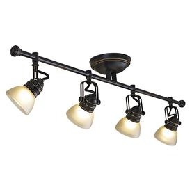allen + roth Tucana 4-Light Oil-Rubbed Bronze Dimmable Fixed Track Light Kit
