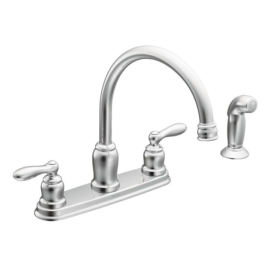 Shop Moen Caldwell Chrome 2Handle HighArc Kitchen Faucet
