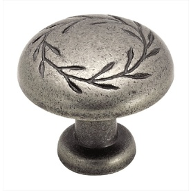 "Amerock  Antique Nickel 1-1/4"" Leaf Knob"