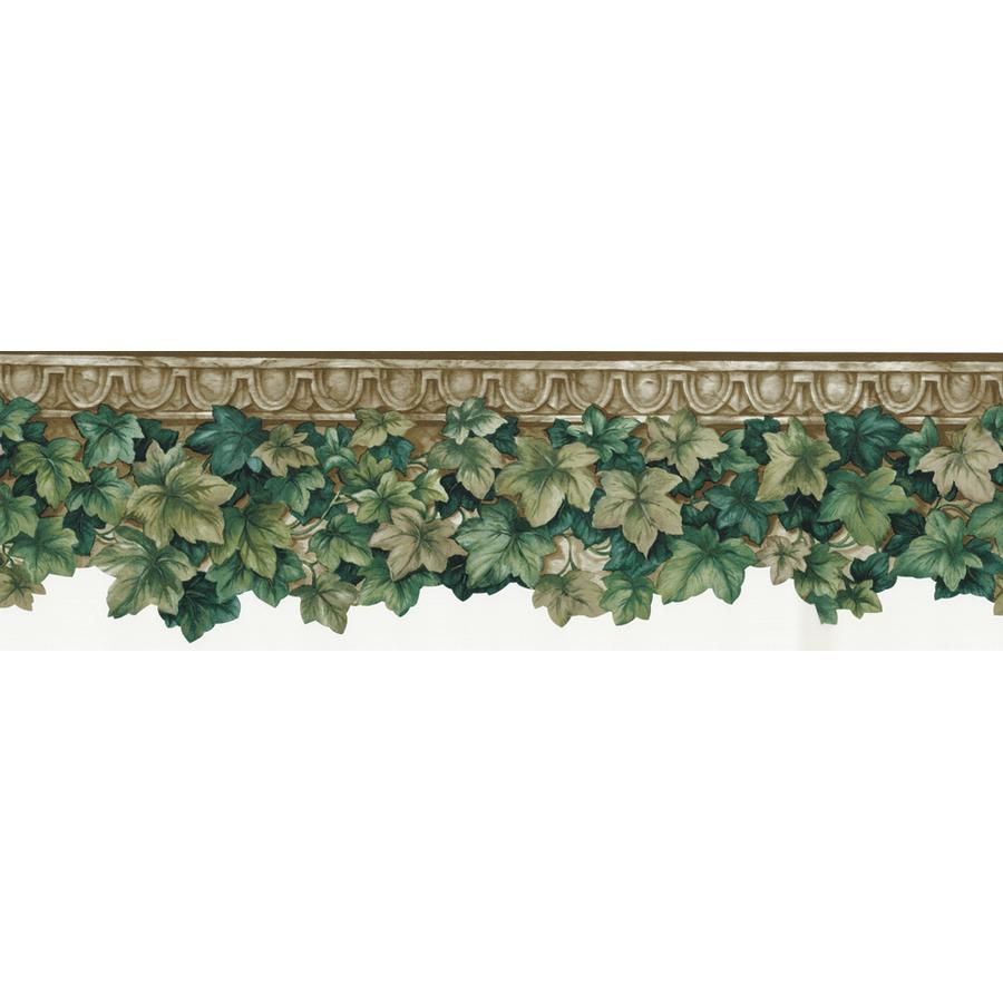 Shop allen  roth 612 Green Ivy DieCut Prepasted Wallpaper Border at Lowescom