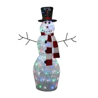 4 Ft Tall Multicolor Twinkling Lighted Snowman Outdoor ...