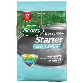 Scotts 5,000-sq ft Starter Plus Weed Preventer All Season Weed and Feed Lawn Fertilizer (21-22-4)