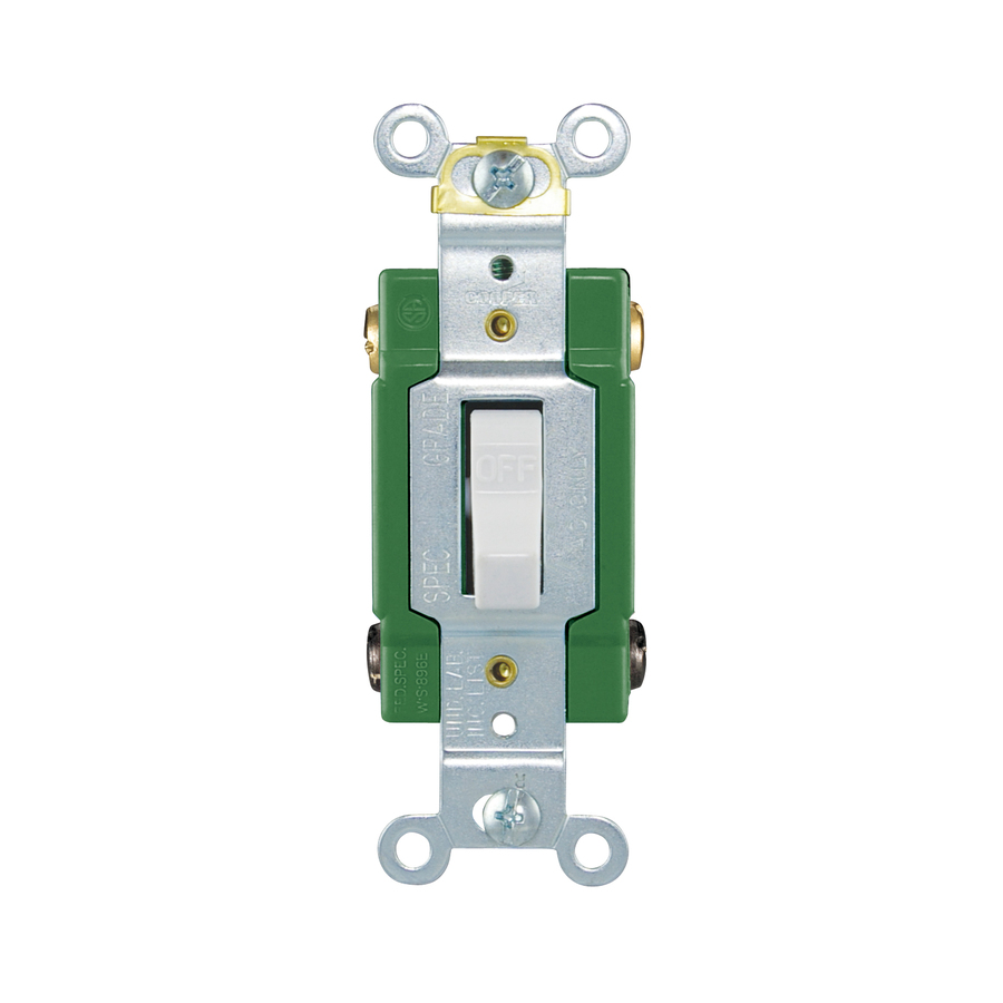 hight resolution of shop cooper wiring devices 30amp ivory double pole light switch at