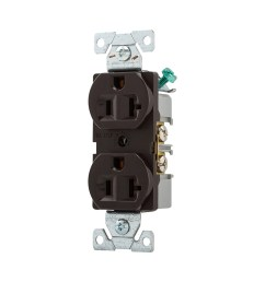 cooper wiring devices 125volt 20amp brown duplex electrical outlet [ 900 x 900 Pixel ]