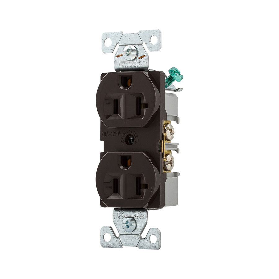 medium resolution of cooper wiring devices 125volt 20amp brown duplex electrical outlet