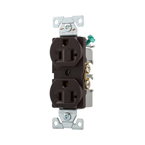 small resolution of cooper wiring devices 125volt 20amp brown duplex electrical outlet