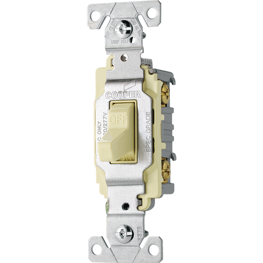 hight resolution of shop cooper wiring devices 20amp almond single pole light switch at